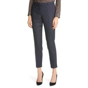 HUGO BOSS slim fit cropped wool pants